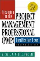 Preparing for the Project Management Professional (PMP) Certification Exam