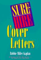 Sure-hire Cover Letters