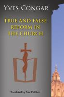 True and False Reform in the Church