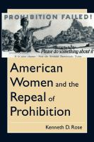 American Women and the Repeal of Prohibition