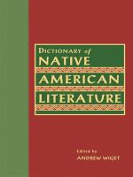 Dictionary of Native American Literature