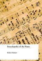 Encyclopedia of the Piano