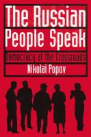 The Russian People Speak