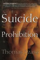Suicide Prohibition