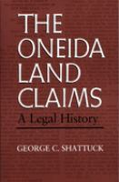The Oneida Land Claims
