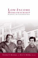 Low-Income Homeownership