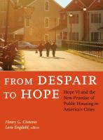 From Despair to Hope