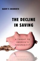 The Decline in Saving