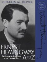 Ernest Hemingway A to Z