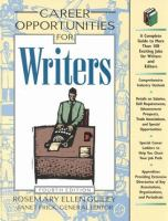 Career Opportunities for Writers