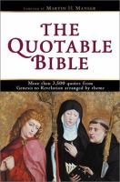 The Quotable Bible