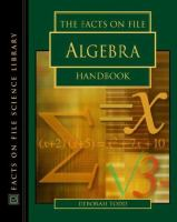 The Facts on File Algebra Handbook