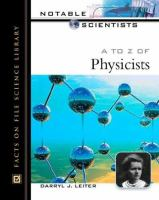 A to Z of Physicists