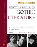 Facts on File Encyclopedia of Gothic Literature