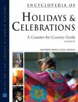Encyclopedia of Holidays and Celebrations
