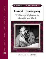 Critical Companion to Ernest Hemingway
