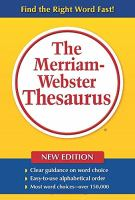 The Merriam-Webster Thesaurus For Large Print Users
