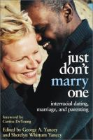 Just Don't Marry One