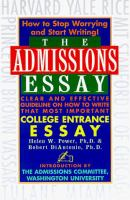 The Admissions Essay