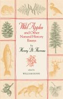 """""""Wild Apples"""" and Other Natural History Essays"""