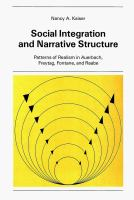 Social Integration and Narrative Structure