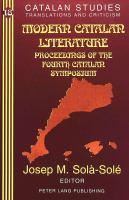 Modern Catalan Literature