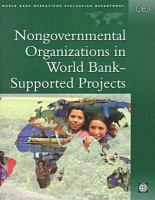 Nongovernmental Organizations in World Bank-supported Projects: A Review (OED Series)