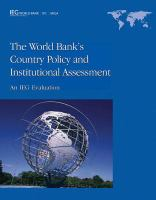 World Bank's Country Policy and Institutional Assessment