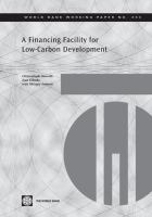 A Financing Facility for Low-carbon Development