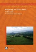Budgeting for Effectiveness in Rwanda