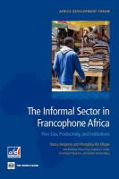 The Informal Sector in Francophone Africa