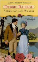 A Bride for Lord Wickton