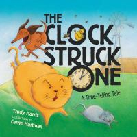 "Melissa & Doug Turn and Tell Wooden Clock and ""The Clock Struck One"" book"