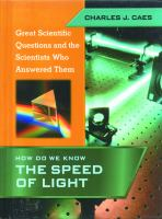 How Do We Know the Speed of Light