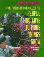 Cool Careers Without College for People Who Love to Make Things Grow