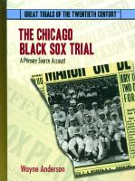 The Chicago Black Sox Trial
