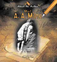Meet A.A. Milne