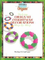 Making Origami Christmas Decorations Step by Step