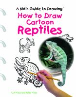 How To Draw Cartoon Reptiles