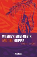 Women's Movements And The Filipina, 1986-2008