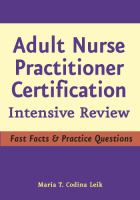 Adult Nurse Practitioner Intensive Review