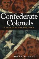 Confederate Colonels