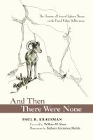 And Then There Were None: The Demise of Desert Bighorn Sheep in the Pusch Ridge Wilderness