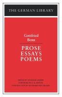 Prose, Essays, Poems