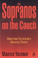 The Sopranos on the Couch