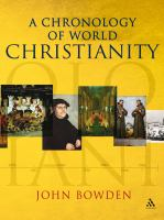 A Chronology of World Christianity