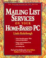 Mailing List Services On Your Home-based PC