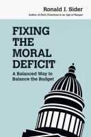 Fixing the Moral Deficit