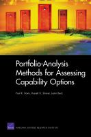 Portfolio-analysis Methods for Assessing Capability Options