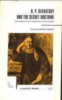 H. P. Blavatsky and The Secret Doctrine